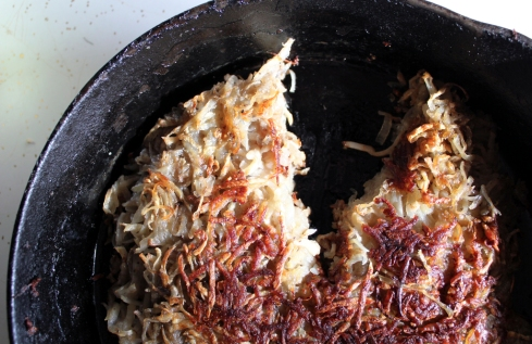 celery root celeriac and onion rosti