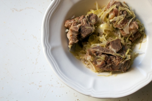 paleo pork neck bones and sauerkraut