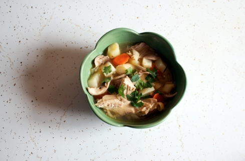 paleo root vegetable chicken soup